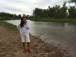 Alaina Buffalo Spirit, Northern Cheyenne, on the Tongue River by her family's land.